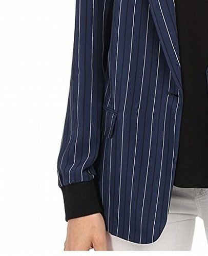 tibi Women's Blazer Navy Multi Jacket 8