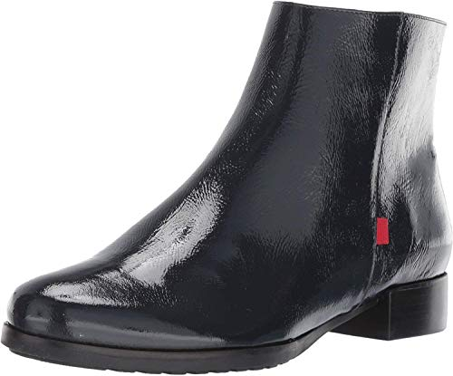 MARC JOSEPH NEW YORK Women's Leather Made in Brazil Prince Street Bootie Ankle Boot, Navy Patent, 9.5 B(M) US