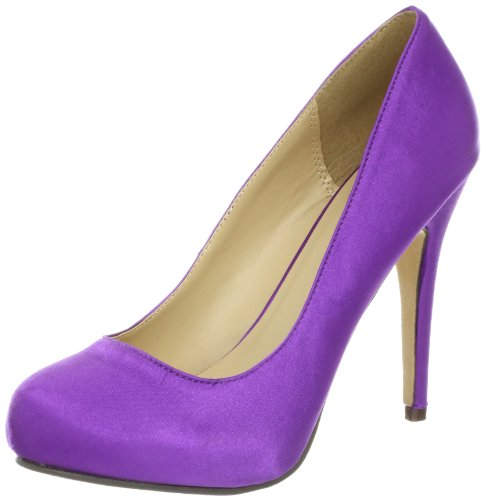 Michael Antonio Women's Loveme-Satin Pump,Purple,7 M US