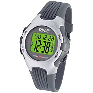 Pyle Sports PSWGM64S Gymaster Fitness Multi-function Watch with Pacer, 50 Lap Chronograph Memory, 4 Countdown Timers (Silver)
