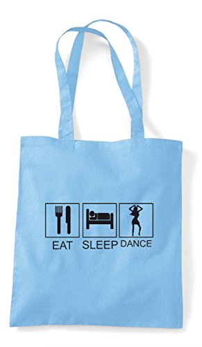 Shopper Sky Funny Tiles Blue Sleep Eat Dance Activity Bag Tote Hobby pw48S