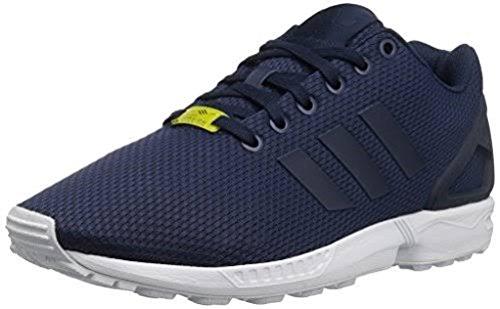 Adidas Original Mens Zx Flux Gymnastiksko Mörkblå / Mörk Blå-vit