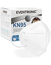 KN95 Face Mask 30 Pack, Eventronic 5-Layer Breathable Cup Dust Mask with Elastic Earloop and Nose Bridge Clip,Air Pollution, White