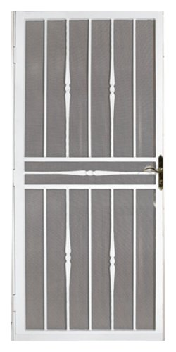 Attrayant First Alert 682FA36X80W Tuscan 36 Inch By 80 Inch Security Screen Door,  White