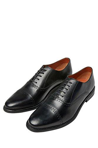 next Hombre Zapatos Puntera Perforada Negro