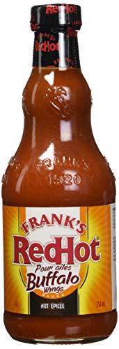 Frank's RedHot Hot Buffalo Wings Sauce, Hot Wing Sauce, Gluten Free, 12 ()