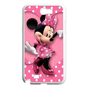 Samsung Galaxy N2 7100 Cell Phone Case White Mickey and Minnie TEC Double Cell Phone Case
