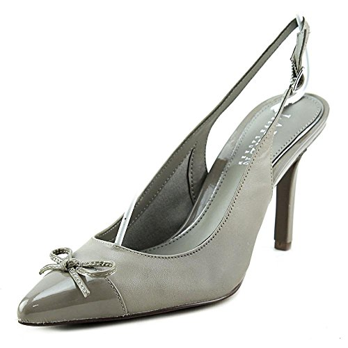LAUREN by Ralph Lauren Womens SIENNA Pointed Toe Slingback Classic Pumps, Grey, Size 9
