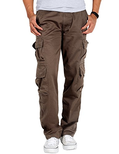 Match Men's Athletic-Fit Cargo Pant(32,6052 Brown)