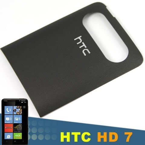 Original OEM Genuine HTC HD7 HD 7 Battery Back Door Plate Panel Cover Faceplate Panel Fascia Housing