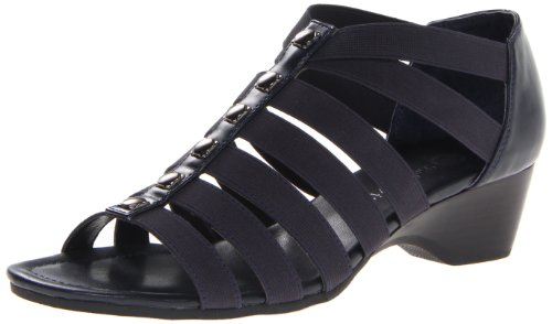 Bella Vita Women's Paula II Wedge Sandal,Navy,7.5 W US