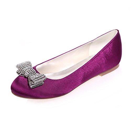 L@YC Zapatos De La Boda De Las Mujeres Round Head / Flat / Party Night 9872-25 Y MáS Colores Disponibles Purple