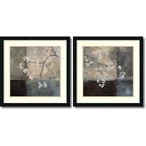 Framed Art Print, 'Spa Blossom, Large- set of 2' by Laurie Maitland: Outer Size 25 x 25'' Each by Amanti Art (Image #3)