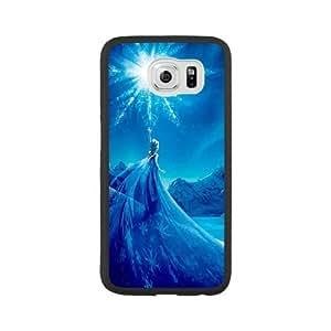 Frozen C1D9TC1U Caso funda Samsung Galaxy S6 Caso funda Negro