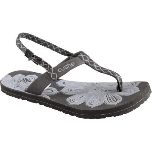 Cushe Dames Zigeuner Leder Sandalen Zwart