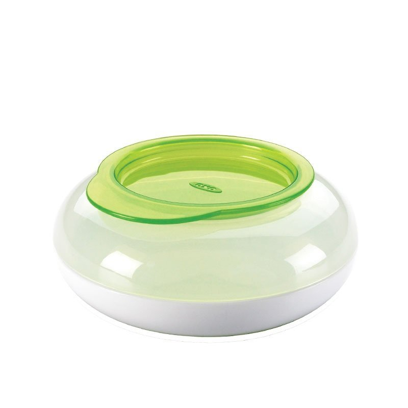 OXO Tot Snack Disk with Snap On Lid- Green