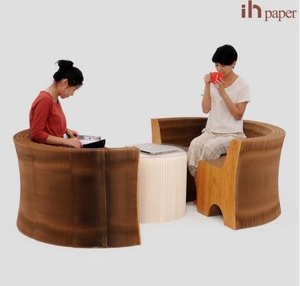 Amazon.com: Ihpaper - Sofá plegable de papel kraft para ...