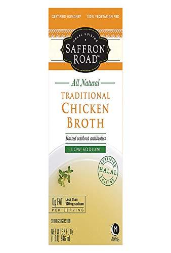 Saffron Road Traditional Chicken Broth, 32 Fluid Ounce - 12 per case.