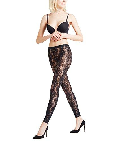 Falke Women's Orange Flower Legging, Black, M