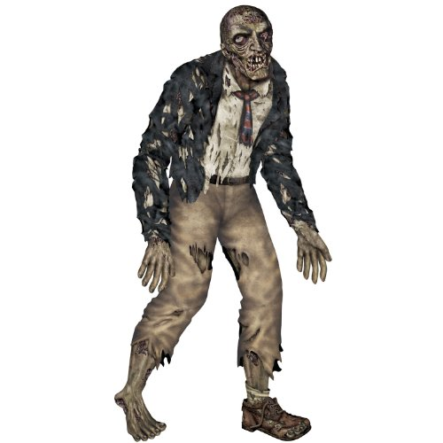 Zombie Decoration (Beistle Jointed Zombie Figurine for Party, 6-Feet)