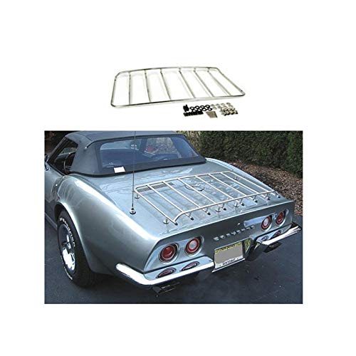 Eckler's Premier Quality Products 25101303 Corvette Luggage Rack 8Hole Stainless Steel