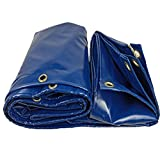 tarpaulin 610m Outdoor, Heavy Duty Tent Bottom, Garden Furniture Barbecue Polyester Cover, Waterproof Dustproof Rainproof and Tear Resistant (Blue, 17 Sizes)