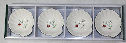 Pfaltzgraff Dip Set (Pfaltzgraff 5186014 Winterberry Shell Dip Bowl Dinnerware Set, 12 oz, Assorted)