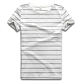 Rainbow T Shirt Women Striped Crew Neck Short Sleeve Stripes Tee Top Stripped