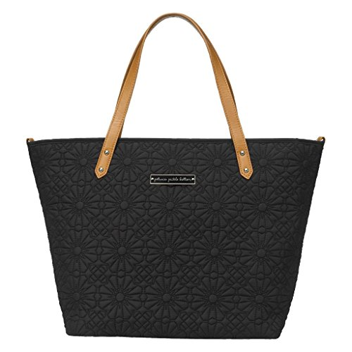 - Petunia Pickle Bottom Embossed Downtown Tote, Black