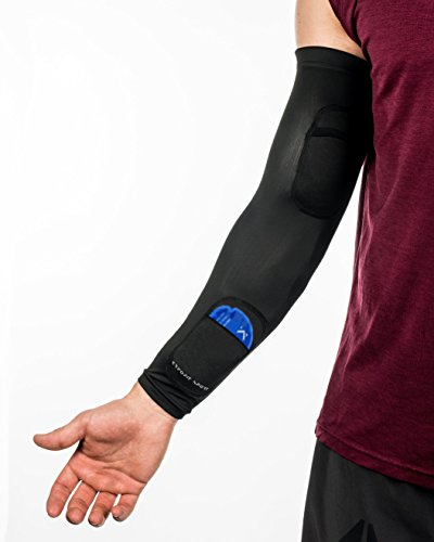 New Kryofit Cold Compression Sleeves w/Freeze Pack Inserts – 2 Sleeves w/ 4 Cryo Gels – for Arm/Wrist Cryotherapy, Muscle Recovery, Joint Support, Endurance Sports etc. by Kryofit Sport (Image #4)