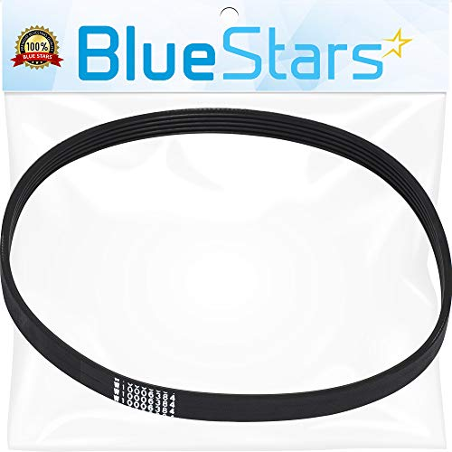 Replacement Belt Washer (Ultra Durable W10006384 Washer Drive Belt Replacement Part by Blue Stars- Exact Fit for Whirlpool Maytag Kenmore Washer - Replaces WPW10006384VP PS11747978)