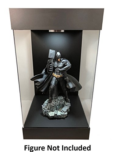 ELITE E-03 MATTE BLACK LED LIGHTED FIGURE STATUE DOLL DISPLAY CASE FOR 1/6 SCALE FIGURES AND MOST FIGURES UP TO 16