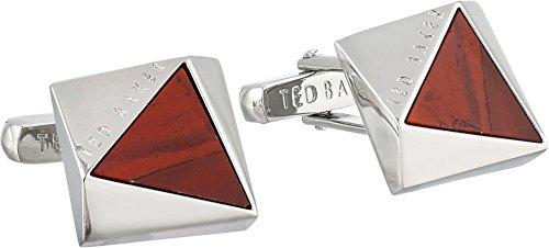 Ted Baker Men's Triangular Cut Semi Precious Red Cuff Links One Size