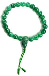 Mano-mala de Jade rosario budista con 9 mm perlas en-brazalete conjunto de 3