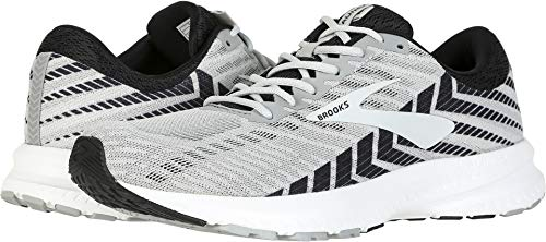 (Brooks Men's Launch 6 Alloy/Black/Grey 9 EE US)