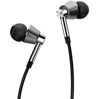 1MORE Triple Driver In-Ear Headphones (Earphones/Earbuds/Headset) with Apple iOS and Android Compatible Microphone and Remote (Silver)