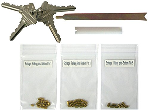 Schlage Keyway Rekey Kits Rekeying set 4 SC1 Keys 5 Pins 8 Locks locksmith by eBuilderDirect