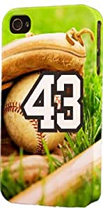 Baseball Sports Fan Player Number 43 Plastic Snap On Flexible Decorative Apple iphone 5c Case