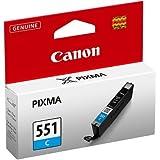 Canon CLI-551 C - Cartucho de tinta para impresora, color cian