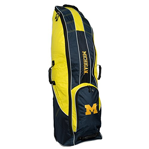 Best Price Team Golf NCAA Travel Golf Bag, High-Impact Plastic Wheelbase, Smooth & Quite Transport, ...