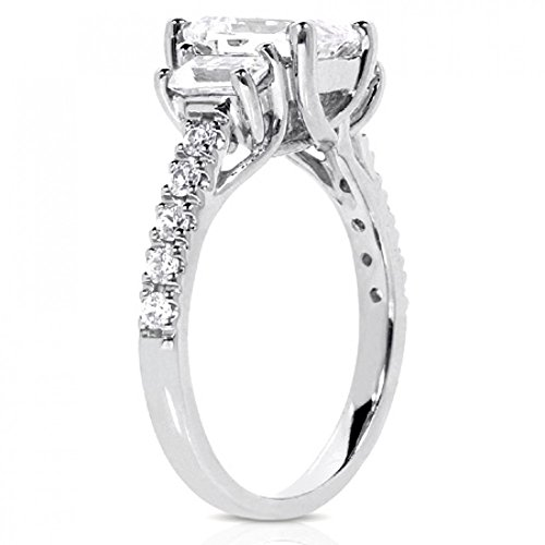 210-ct-Ladies-Emerald-Cut-Diamond-Engagement-Ring-in-Platinum