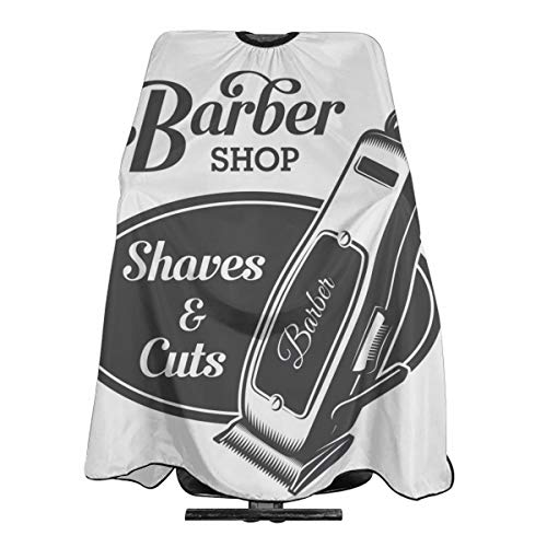 (Vintage Barbershop Sign Hairdress Erelectric Trimmer Hairdresser Hair Stylist Haircut Cover Salon Barbering Cape Shop Accessories Styling Cutting Kit Professional Pare Estilista Barbero Adults Capa)