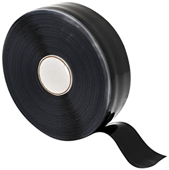 "X-Treme Tape TPE-X36ZLB Silicone Rubber Self Fusing Tape, 1"" x 36', Triangular, Black"