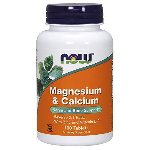 Now Supplements, Magnesium & Calcium, 100 Tablets