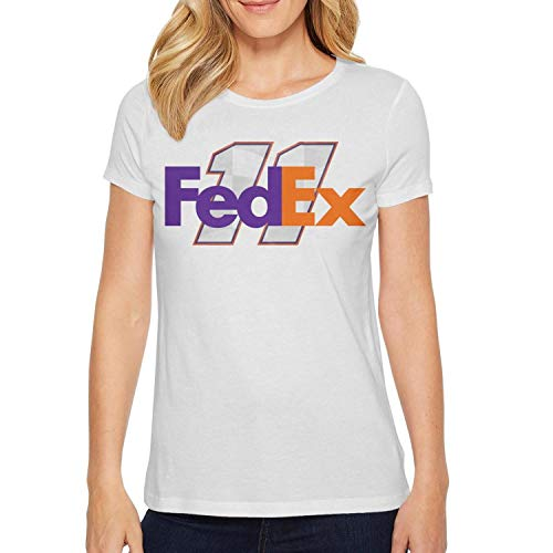 (YUIOA Girls White T-Shirts Tee Cotton FeDEX-Racing-Hamlin-11- Cool Short Sleeve T Shirt)