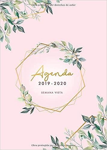 Agenda 2019 2020 Semana Vista: Agenda 2019/2020 15 meses ...