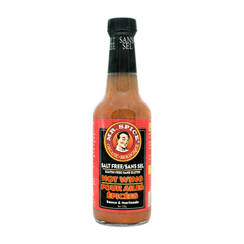 Mr. Spice Organic Hot Wing Sauce - Salt-Free Marinade - Fat-Free - Gluten-Free - Vegetarian - Low Calorie ()