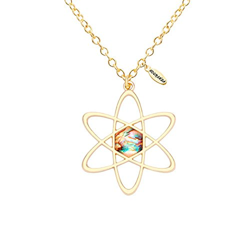 NOUMANDA Gold Abalone Shell Five-Pointed Star Pendant Charm Necklace (gold)