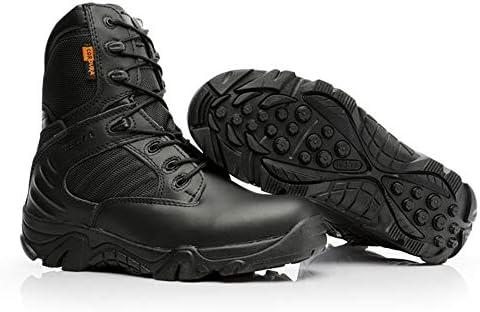 タクティカルブーツ メンズ サイドジッパー ハイカットミリタリーブーツ 登山 ハイキング ジャングルブーツ軍靴 登山 靴 防水 防滑 通気性 耐磨耗