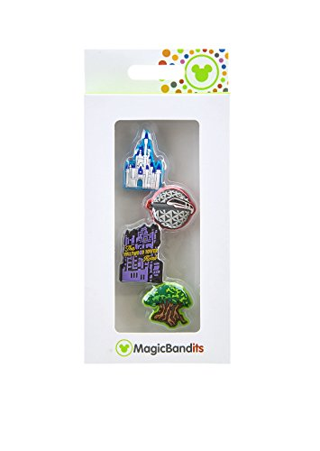 Walt Disney World Four Parks Icon Glitter Magic Band Bandits Set of 4 Charms